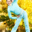 Sporting exercise. Jogging woman — Stock Photo