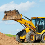 Excavator Loader with backhoe works — Stock Photo #7148165