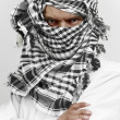 Stern arab muslim in shemagh kaffiyeh — Stock Photo