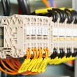 Stock Photo: Electrical fuseboxes and power lines switchers