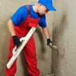 Plasterer at work — Stock Photo #7236288