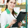 Pharmacy chemist woman in drugstore — Stock Photo #7267103
