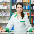 Stockfoto: Pharmacy chemist womin drugstore