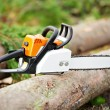 Lumberjack Work tool petrol Chainsaw — Stock Photo