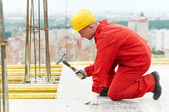 Builder making construction works — Stock Photo