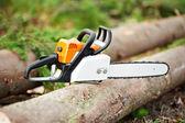 Lumberjack Work tool petrol Chainsaw — Stock Photo