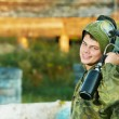 Stock Photo: Man paintball player