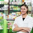 Pharmacy chemist woman in drugstore - Foto Stock