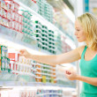 Wommaking dairy shopping — Stock Photo #7461848