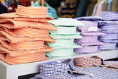 Shirts in a shop — Stock Photo