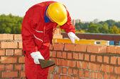 Bouw mason werknemer metselaar — Stockfoto