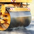 Compactor roller at asphalting work — Stock Photo #7522886