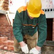 Construction mason worker bricklayer - Lizenzfreies Foto