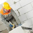 Construction mason worker bricklayer — Stockfoto #7770260