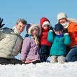 Royalty-Free Stock Photo: Happy family with children in winter