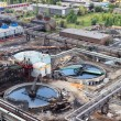 Sewage industrial water plant under construction — Stock Photo