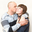Loving couple kissing and embracing — Stock Photo