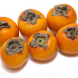 Red juicy persimmons — Stock Photo
