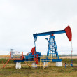 Royalty-Free Stock Photo: One pump jacks on a oil field