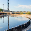 Water recycling on sewage treatment station — Stock Photo