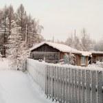 Winter season in Russian village — Stock Photo #7582123