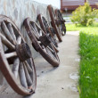 Old-fashioned wagon wheels  — Stock Photo