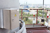 View of industrial plant from high platform — Stock Photo