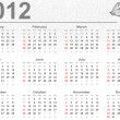 Stock Photo: Full 2012 calendar with butterflies
