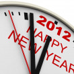 New Year's clock — Stock Photo