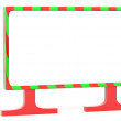 Blank Christmas billboard — Stock Photo