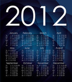 Blue 2012 calendar. Vector — Vecteur