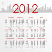 City 2012 calendar. Vector — Vecteur