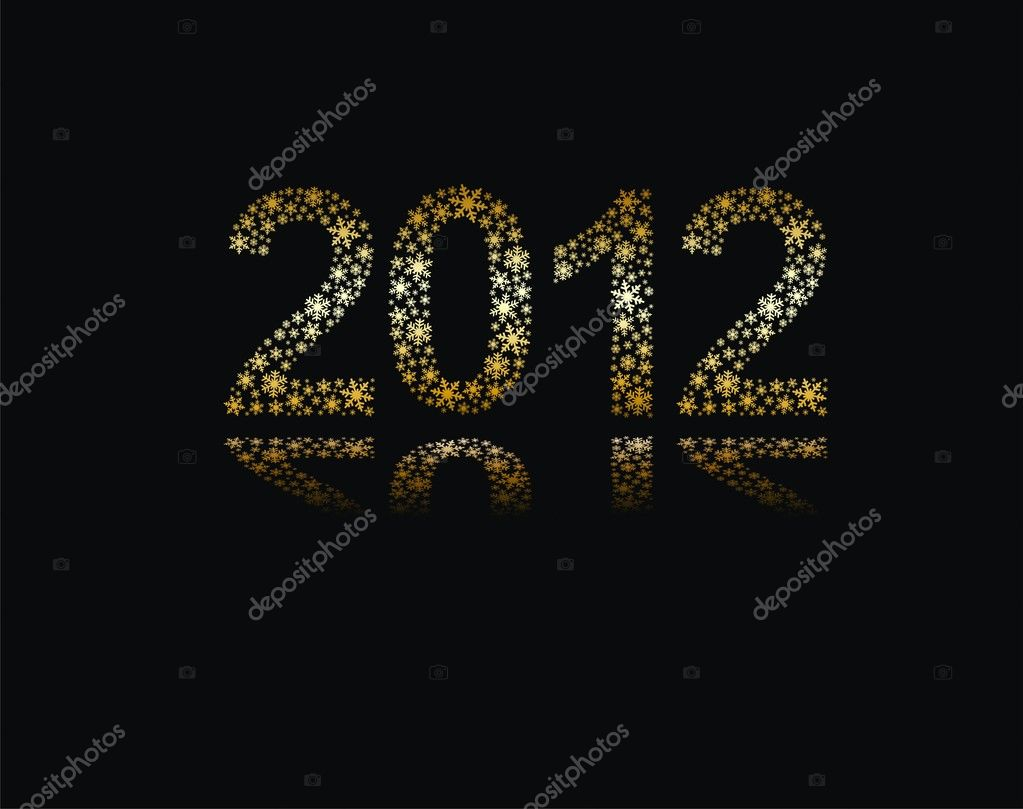 New Year 2012  Stock Vector #7376072