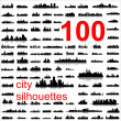 Detailed vector silhouettes of world cities — Stockvectorbeeld