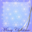 Stock Photo: Christmas card with snowflakes