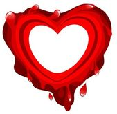 Bloody heart — Stock Photo