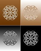Ornaments on different backgrounds — Stock Photo