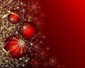 Glänsande röd jul bakgrund — Stockfoto