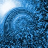 青い渦 — ストック写真