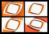 Orange business cards — Stock Photo