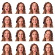 Stock Photo: Beautiful Young WomCollection of Expression
