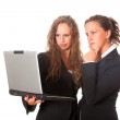 Two Business Women Looking Computer — Stock Photo #6958202