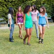 Royalty-Free Stock Photo: Teenage Girls Walking at Park