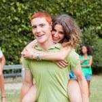 Happy Teenage Couple Portrait — Stock Photo