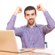 Happy Young Man at Work — Stock Photo #7109969