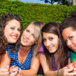 Royalty-Free Stock Photo: Female Teenagers Taking Self Portrait