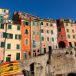 Riomaggiore Village in Cinque Terre, Italy - Stock Photo