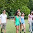 Group of Teenagers at Park — Stock Photo