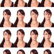 Teenage Girl Portrait, Collection of Expressions — Stock Photo