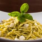 Trofie with Pesto, Italian Dish — Stock Photo